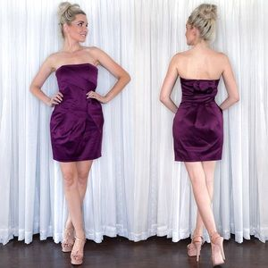 Purple Strapless Cocktail Dress Max and Cleo